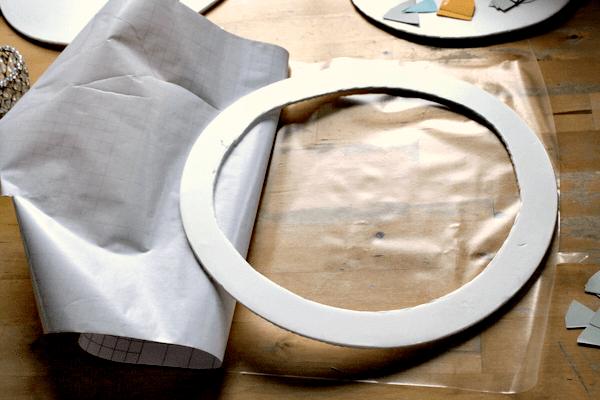 contact paper art circles