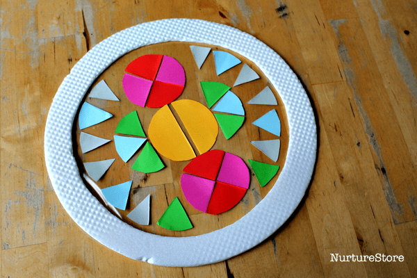 contact paper suncatchers circle art