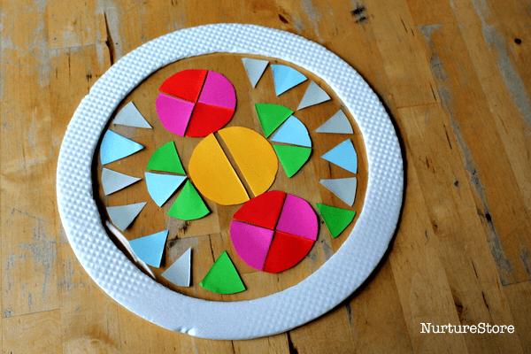contact paper suncatchers circle art
