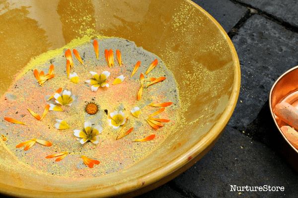 flower petal art for kids