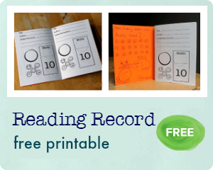 reading record printable