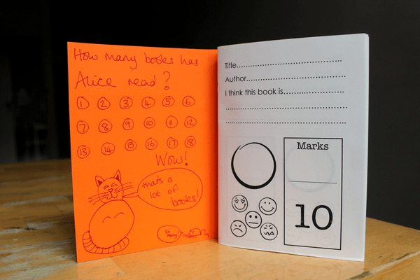 make a reading record book printable