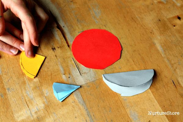 making shapes with circles