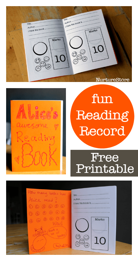 printable reading record for kids - great as a summer reading programme for kids and to track reading and review the books