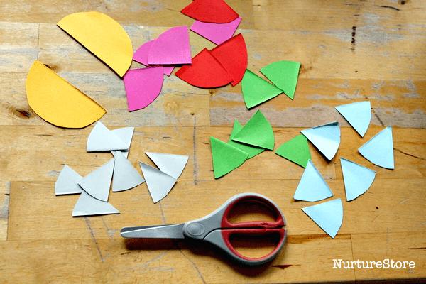 scissor skills cutting out shapes