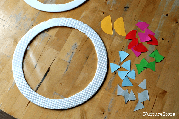 shape art using contact paper suncatchers