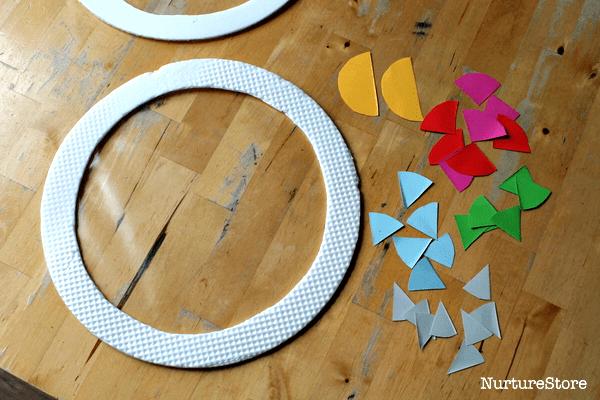 shape art using contact paper suncatchers