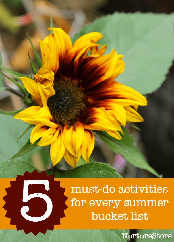 5 MUST-DO summer bucket list activities for families.