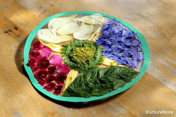 flower mandala craft for children