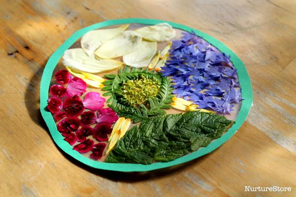 flower mandala craft for children