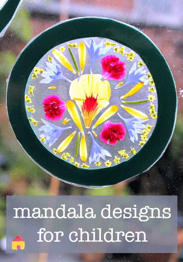 how to make a mandala :: mandala crafts :: flower mandalas :: flower craft