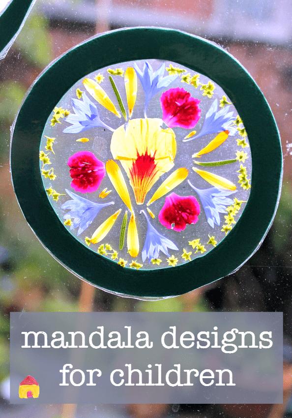 how to make a mandala :: mandala crafts :: flower mandalas :: flower craft
