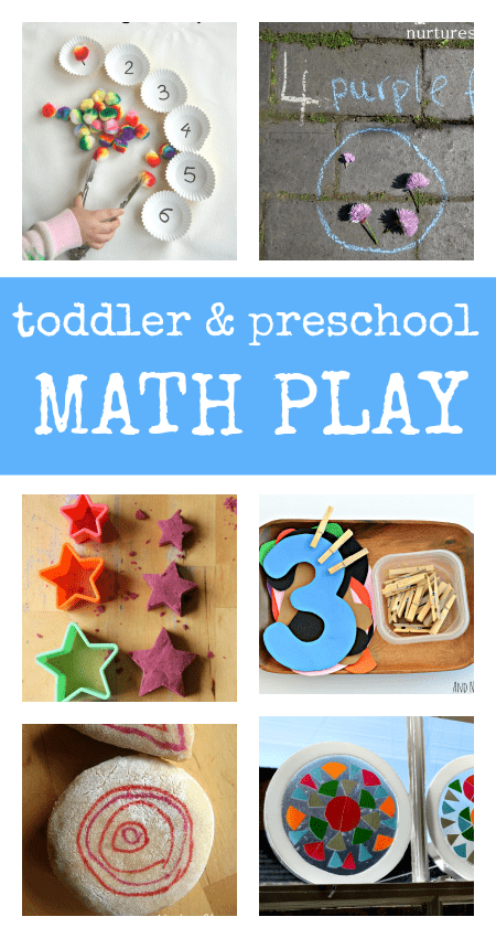 toddler preschool math play