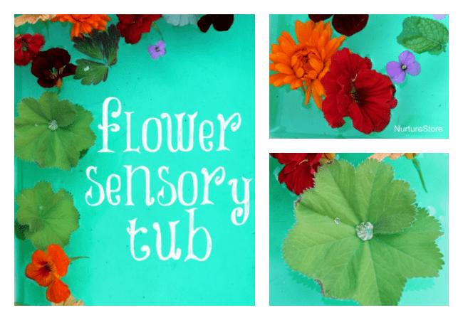 flower sensory tub