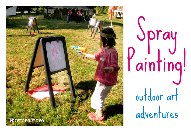 spray painting outdoor art ideas