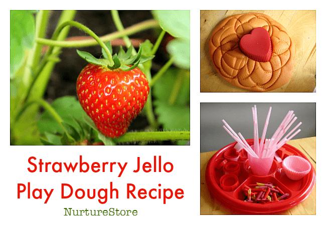 strawberry jello play dough recipe