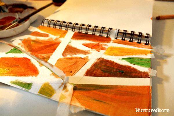 autumn process art for preschool