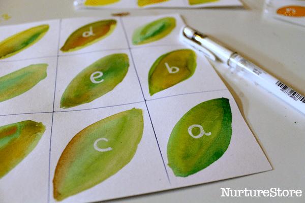 fall leaf alphabet games