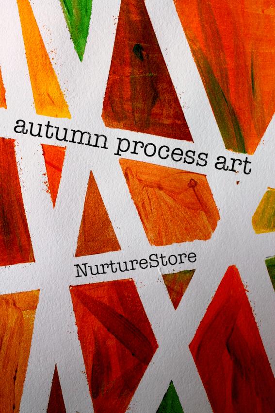 Tape Resist Process Art Project For Autumn NurtureStore