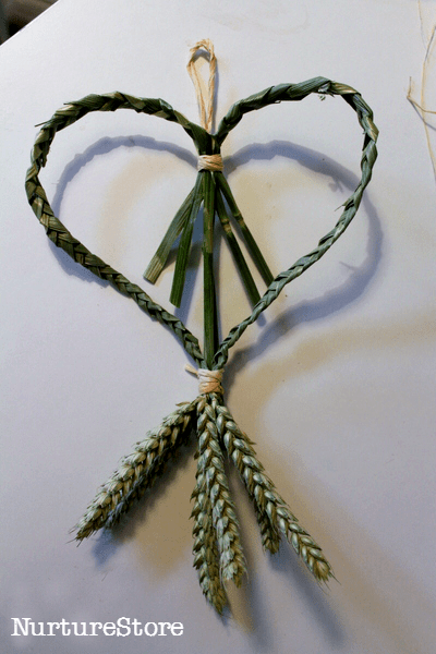 heart shaped corn dolly