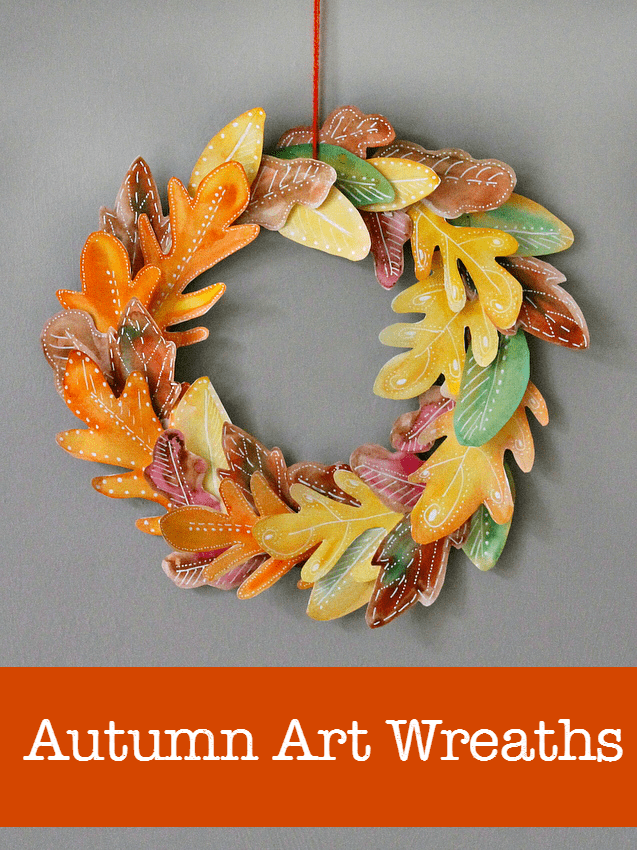 10 beautiful homemade fall wreath art projects nurturestore for Leaf crafts for adults