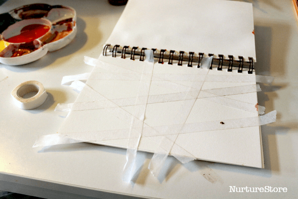 tape resist art project
