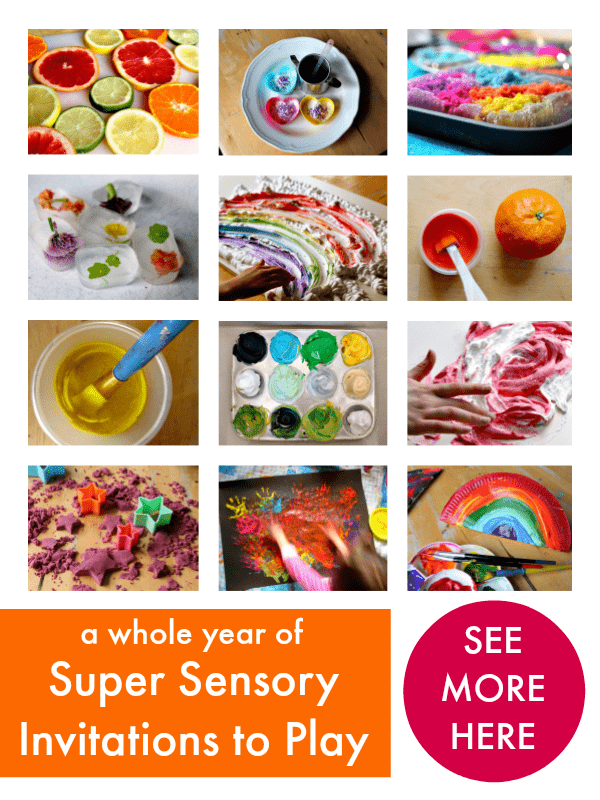 a year of sensory play invitations