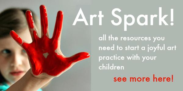 art spark online art course for children