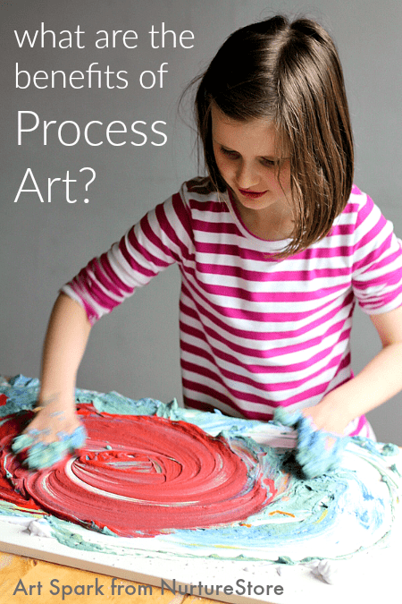 What are the benefits of process art for children - includes free printable poster and process art ideas