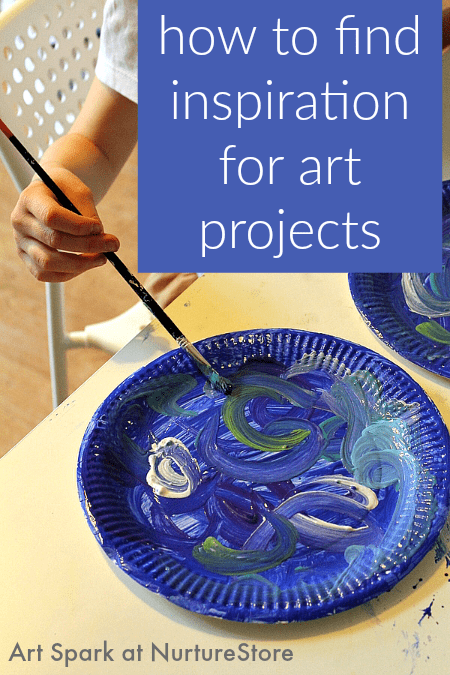 How to find inspiration for art projects - lots of great ideas including a free printable poster of a month of art prompts