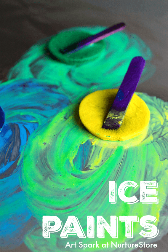 Sensory Play Ice Painting With Frozen Paint Nurturestore