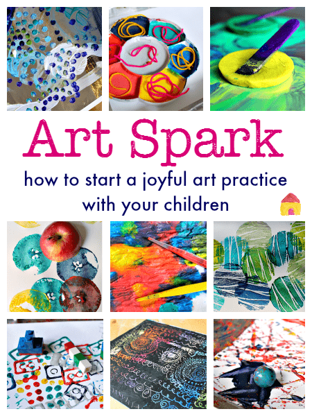 How to do art with your children :: process art ideas :: an online art course for children