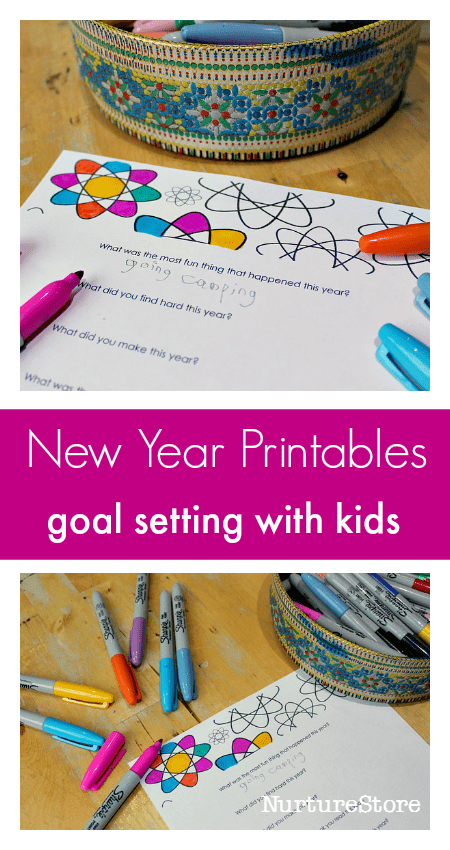 free new year printables for goal setting with kids new year interview printable