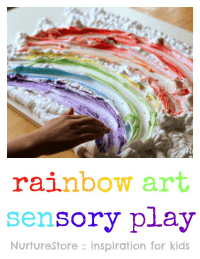 rainbow-art-shaving-foam-sensory-play
