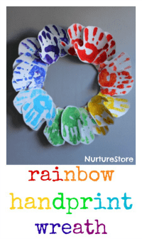 rainbow-handprint-wreath-craft