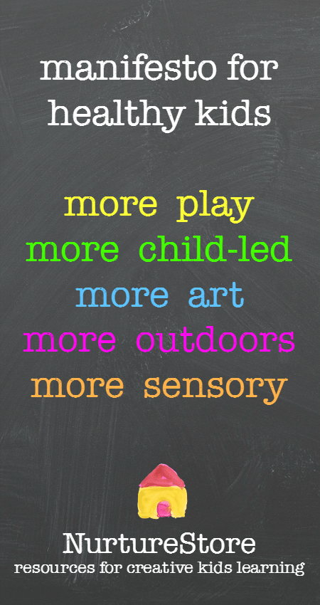 This site has great resources for making your learning more child-centered and play-based.