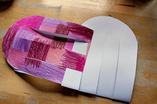 woven heart basket craft