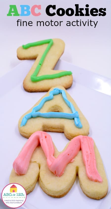 ABC Cookies fun alphabet activity for prescholers - there's a whole series of simpel alphabet activities here!