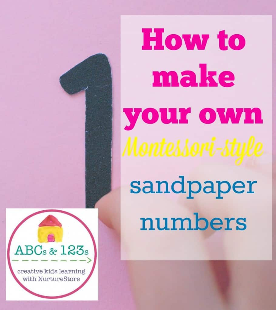 How to make your own Montessori-style sandpaper numbers cover image