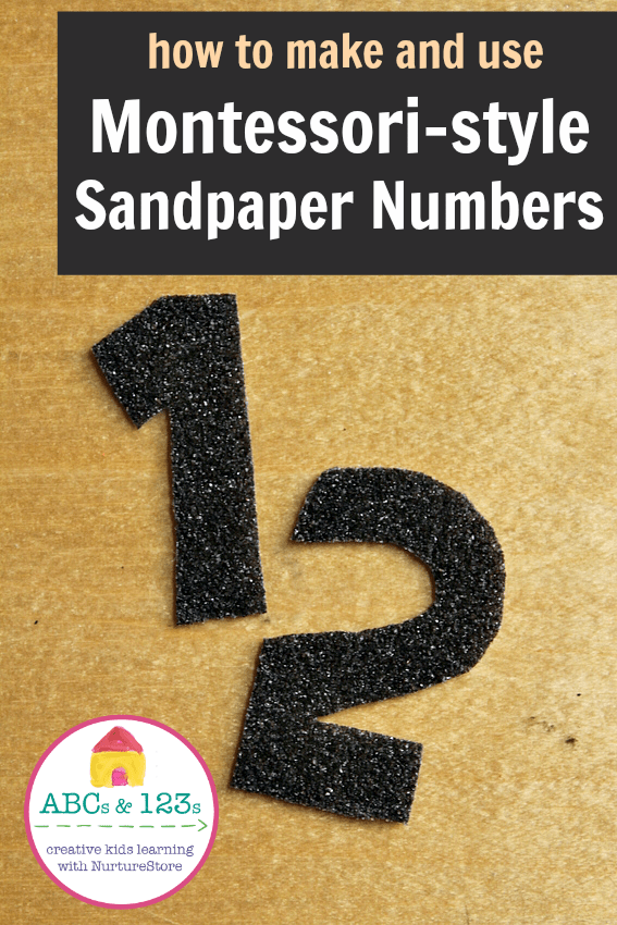 How to make sandpaper numbers and how to use them in Montessori math centers