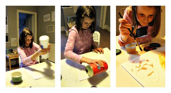 process art with glue and salt