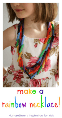 rainbow necklace craft