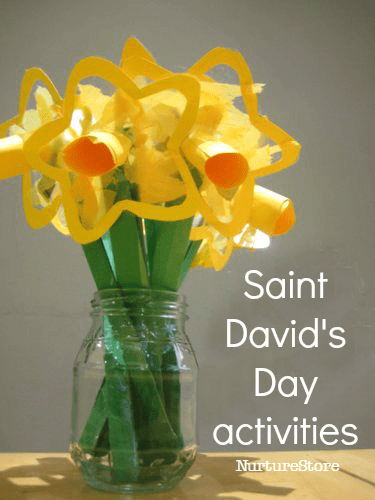 Great ideas for Saint David's Day activities and lesson plans, Welsh crafts and recipes, daffodil crafts