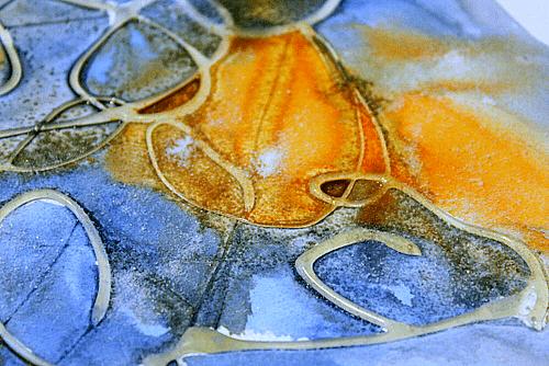 salt glue paint art