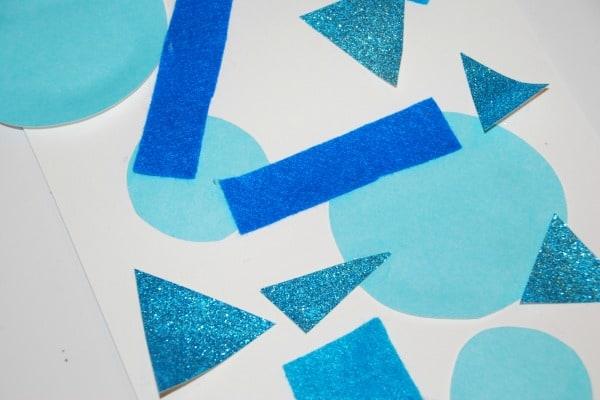 art activity exploring texture and shape