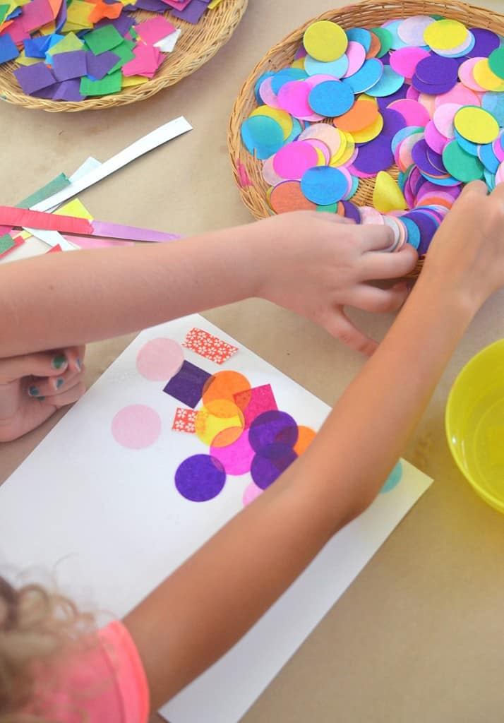 preschool art using shapes