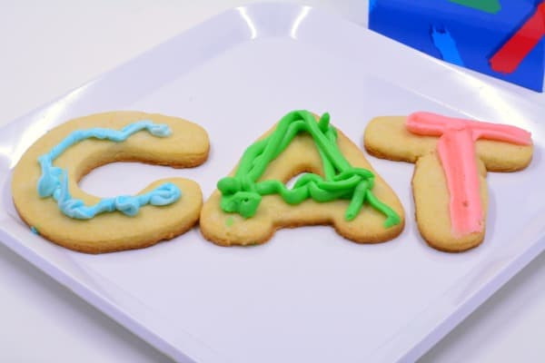 spelling with cookie letters