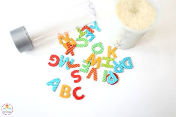 How to make magnetic ABC I-spy Jar