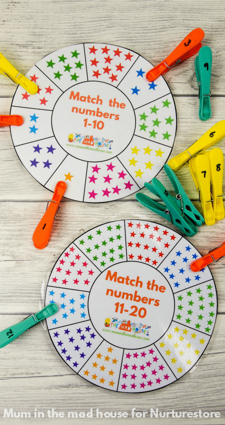 Free Printable Number Wheel For Number Bonds Activities