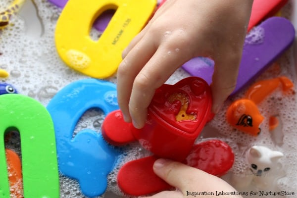 initial letters sounds game with sensory play
